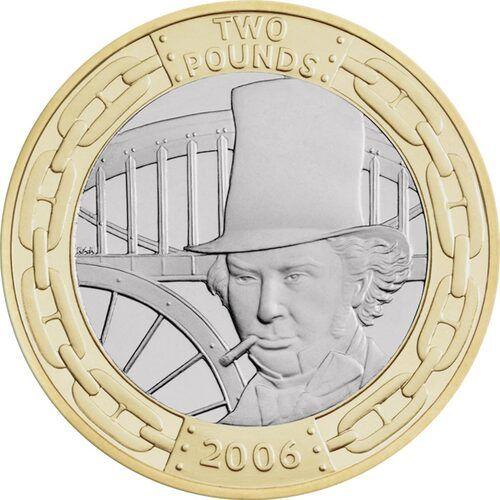 Brunel - Portrait £2 Coins