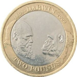 Charles Darwin two pound coin uncirculated