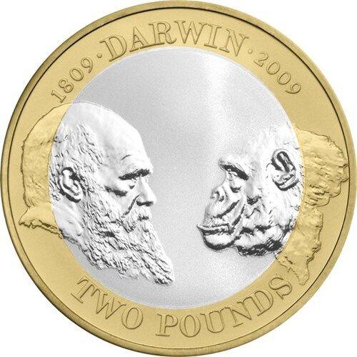 Charles Darwin £2 Coins