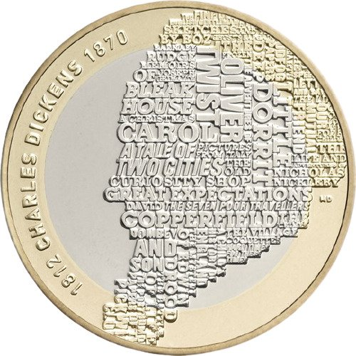 Charles Dickens £2 Coins