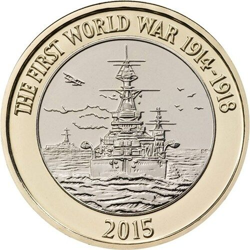 First World War Centenary Royal Navy £2 Coins