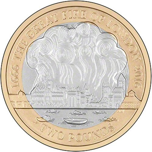 Great Fire of London £2 Coins