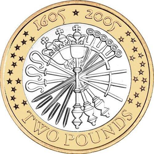 Gunpowder Plot £2 Coins