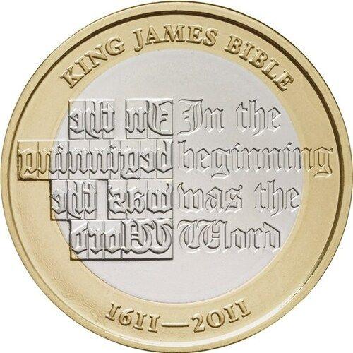 King James Bible £2 Coins