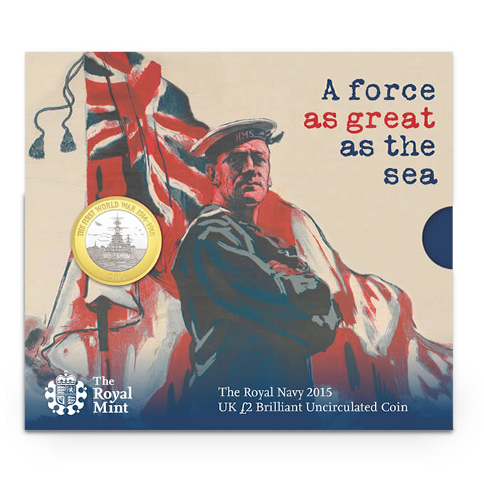 Royal Navy 2015 UK £2 BU Coin