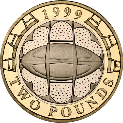 Rugby World Cup £2 Coins