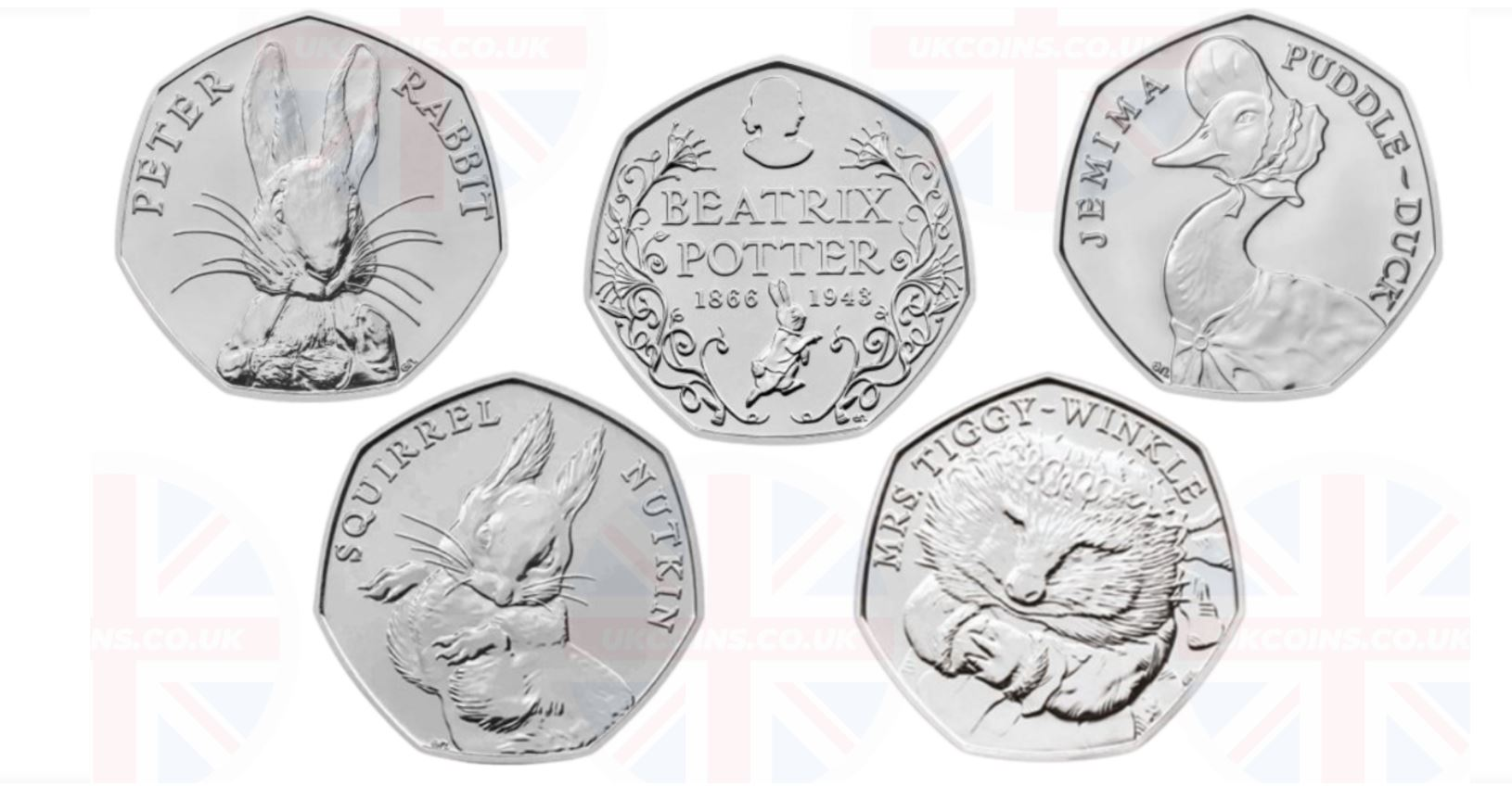 beatrix potter 2016 coin collection