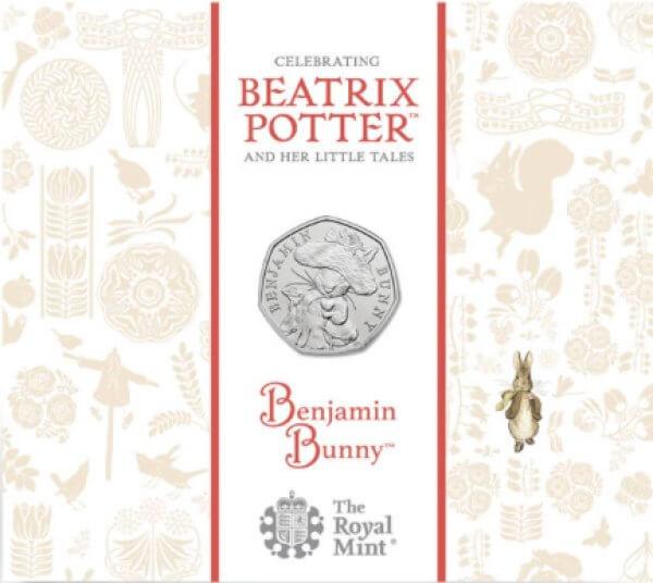 Benjamin Bunny 50p Brilliant Uncirculated Coin