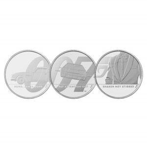 James Bond 2020 UK £5 Brilliant Uncirculated 3 Coin Series