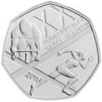 Glasgow Commonwealth Games 50p