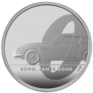 James Bond 2 Ounce Silver Proof Coin