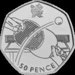 Olympics Table Tennis 50p