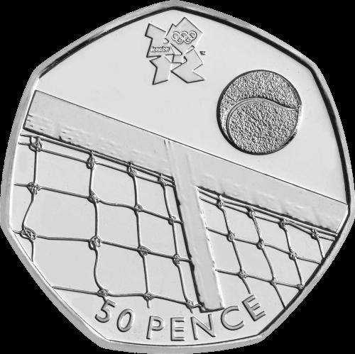 2011 Olympic Tennis 50p