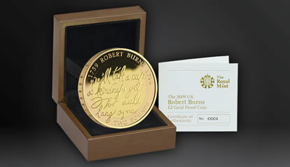 Robert Burns gold proof coins
