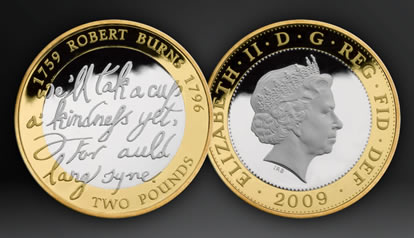 Robert Burns silver proof coins