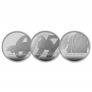 James Bond 2020 UK Two-Ounce Silver Proof Coin 3 Coin Series
