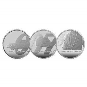 James Bond 2020 UK Half-Ounce Silver Proof 3 Coin Series