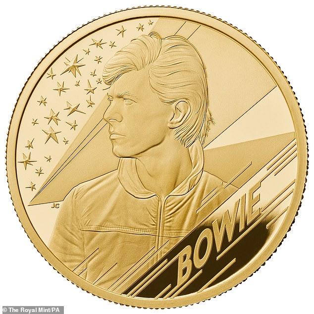 David Bowie Gold Coins