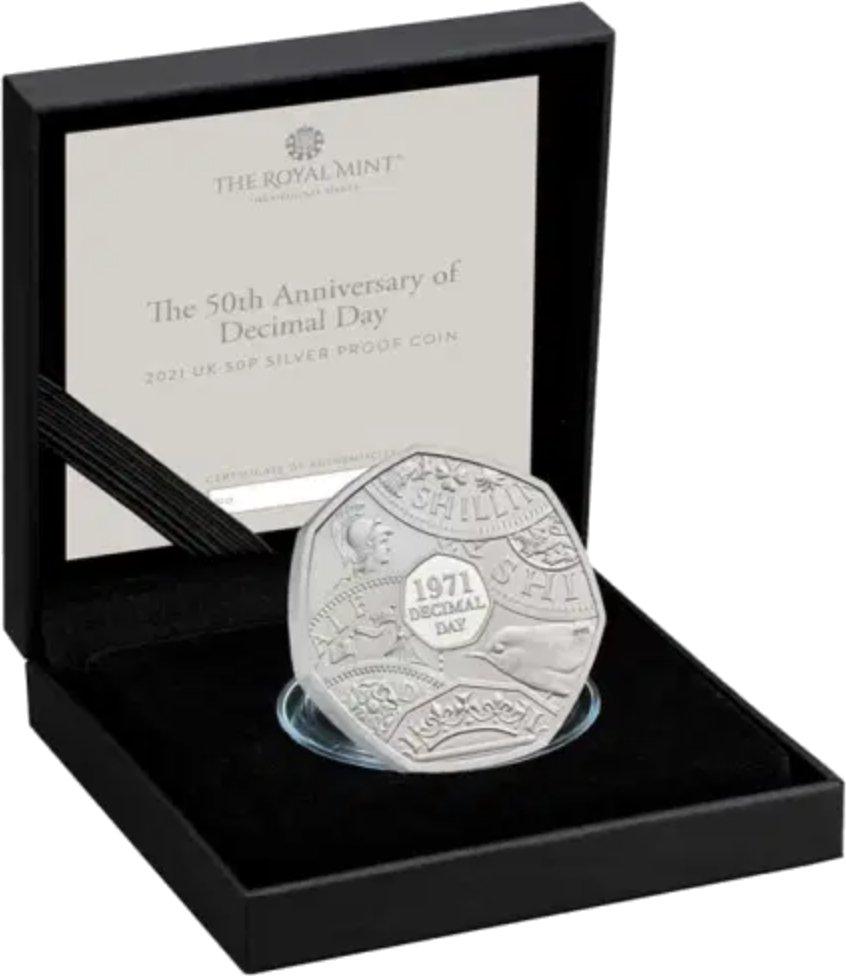 Decimal Day 50p Silver Coins