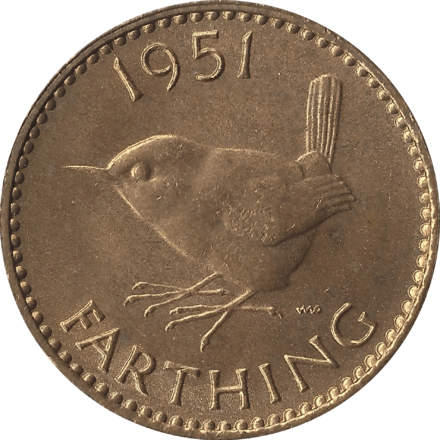 British Farthing Coin