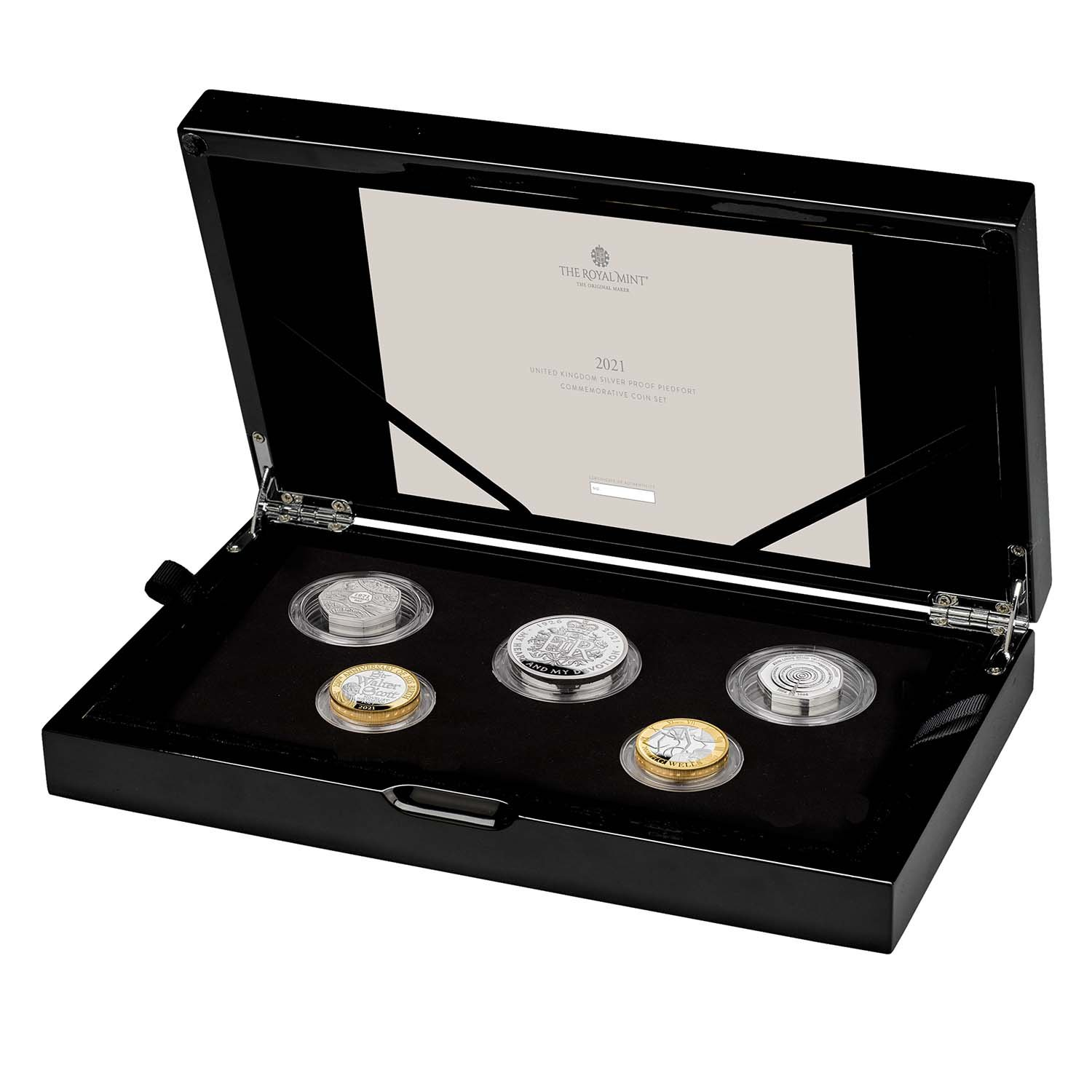 2021 United Kingdom Silver Proof Piedfort Coin Set