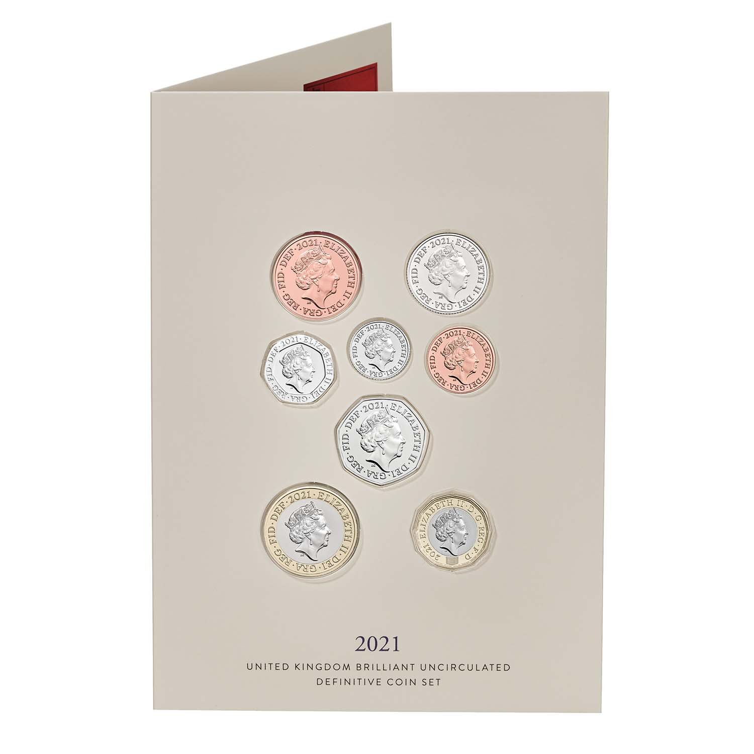 2021 United Kingdom Brilliant Uncirculated Definitive Coin Set